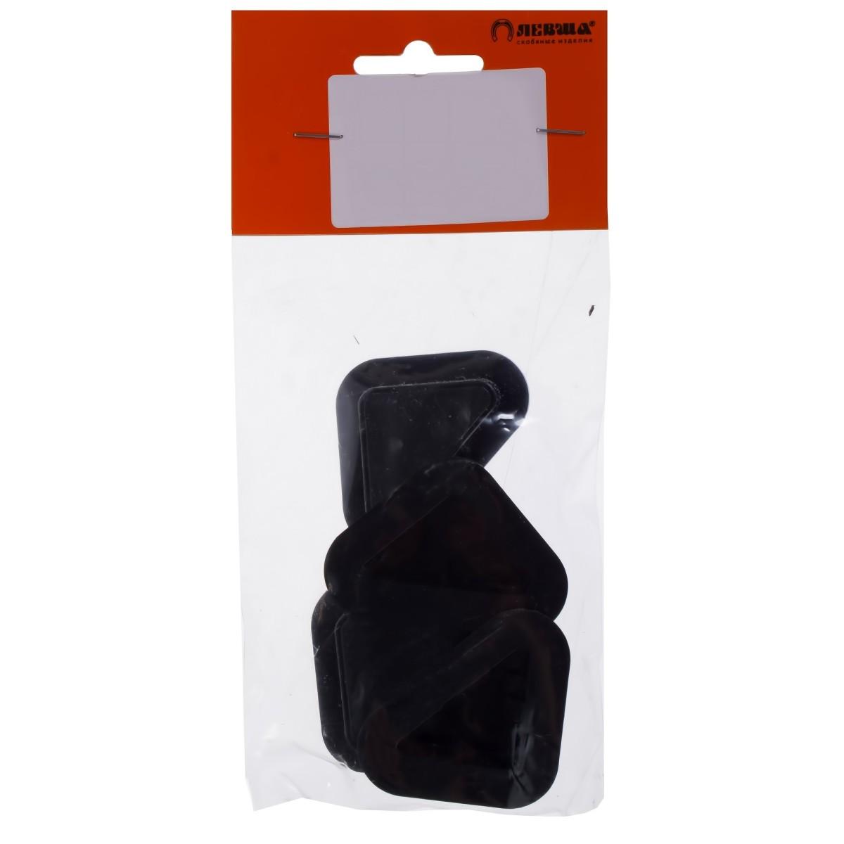 Опора Угловая Пластик Цвет Черный 4