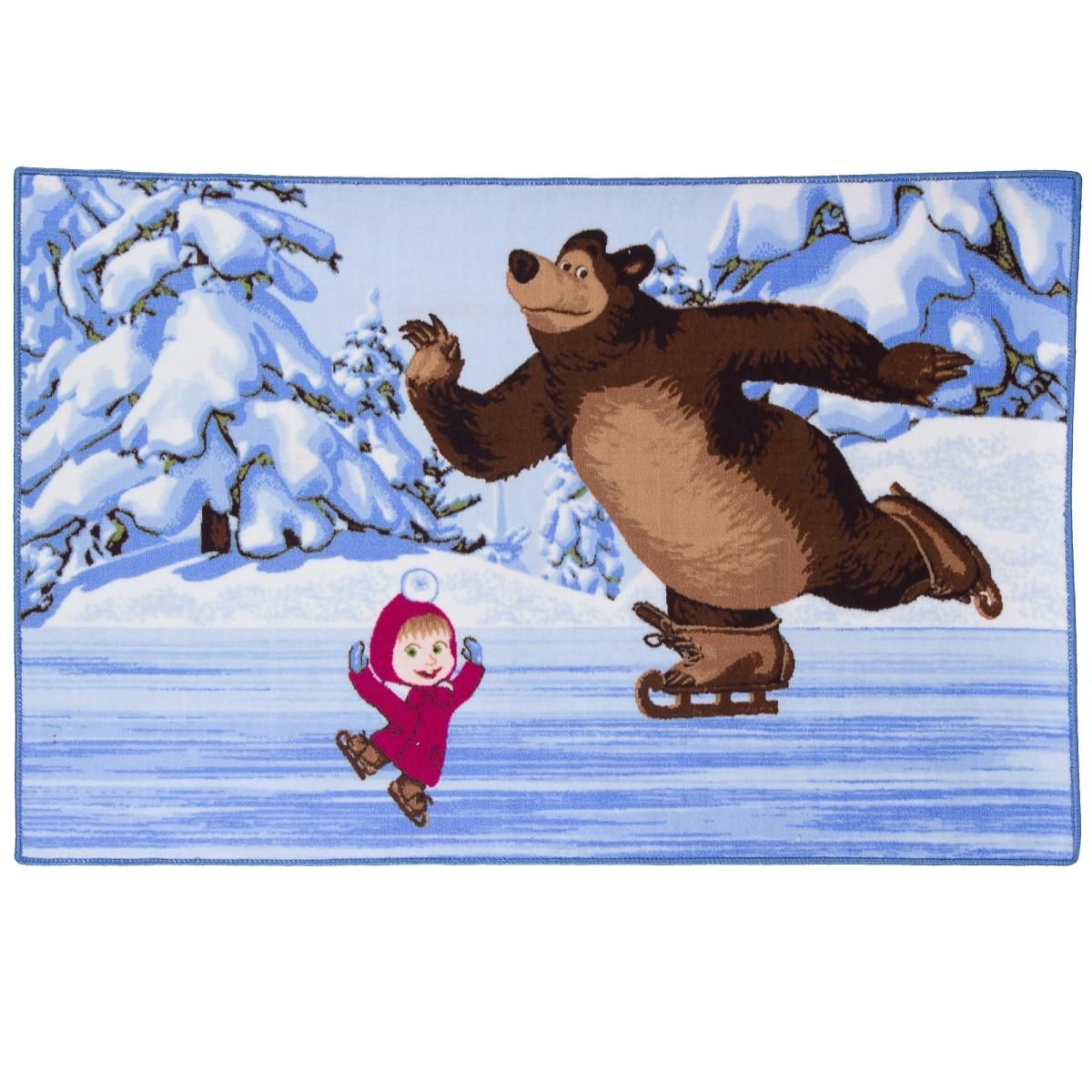 Ковер Маша и Медведь на льду размер 1х15 м