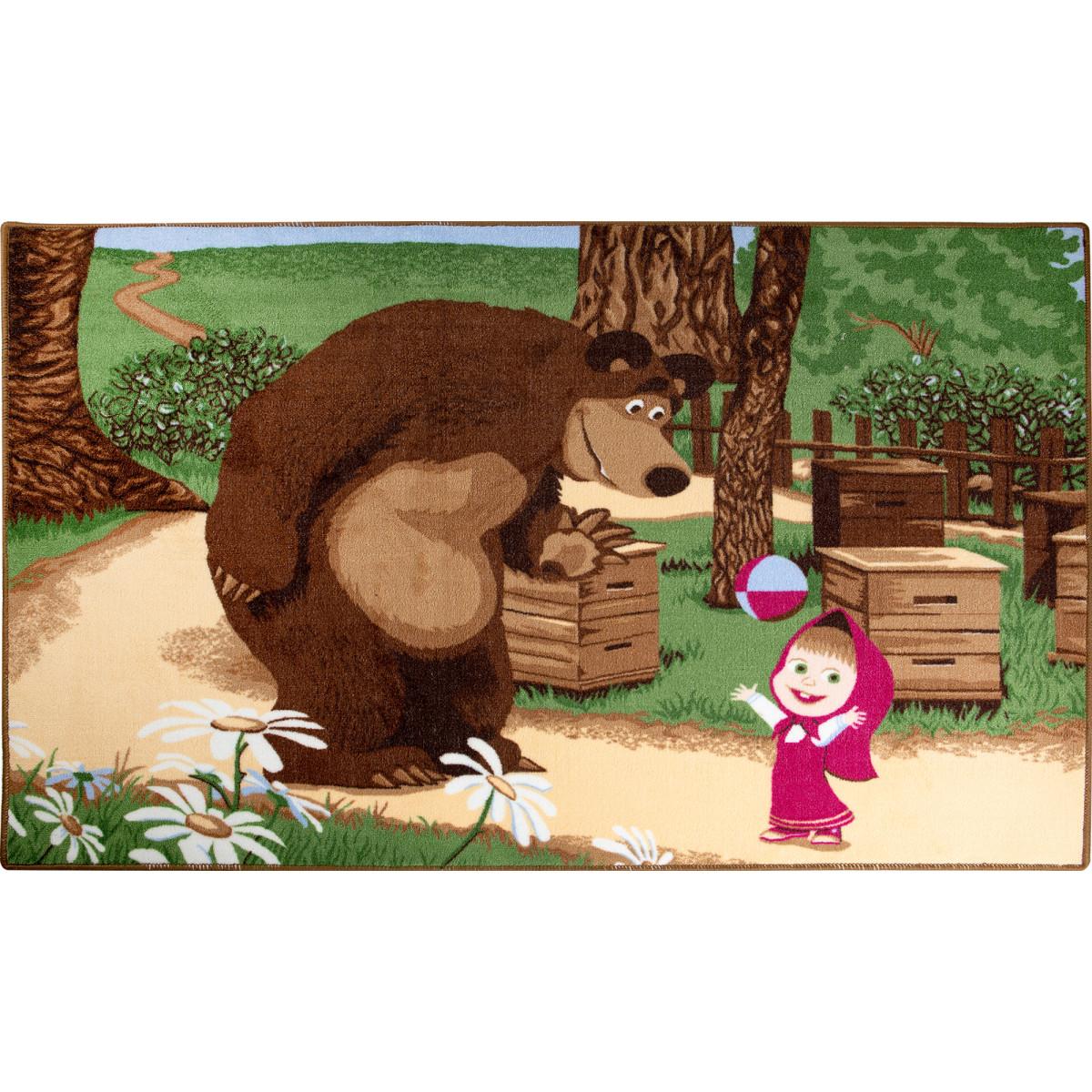 Ковер Маша и Медведь с мячом размер 1х15 м