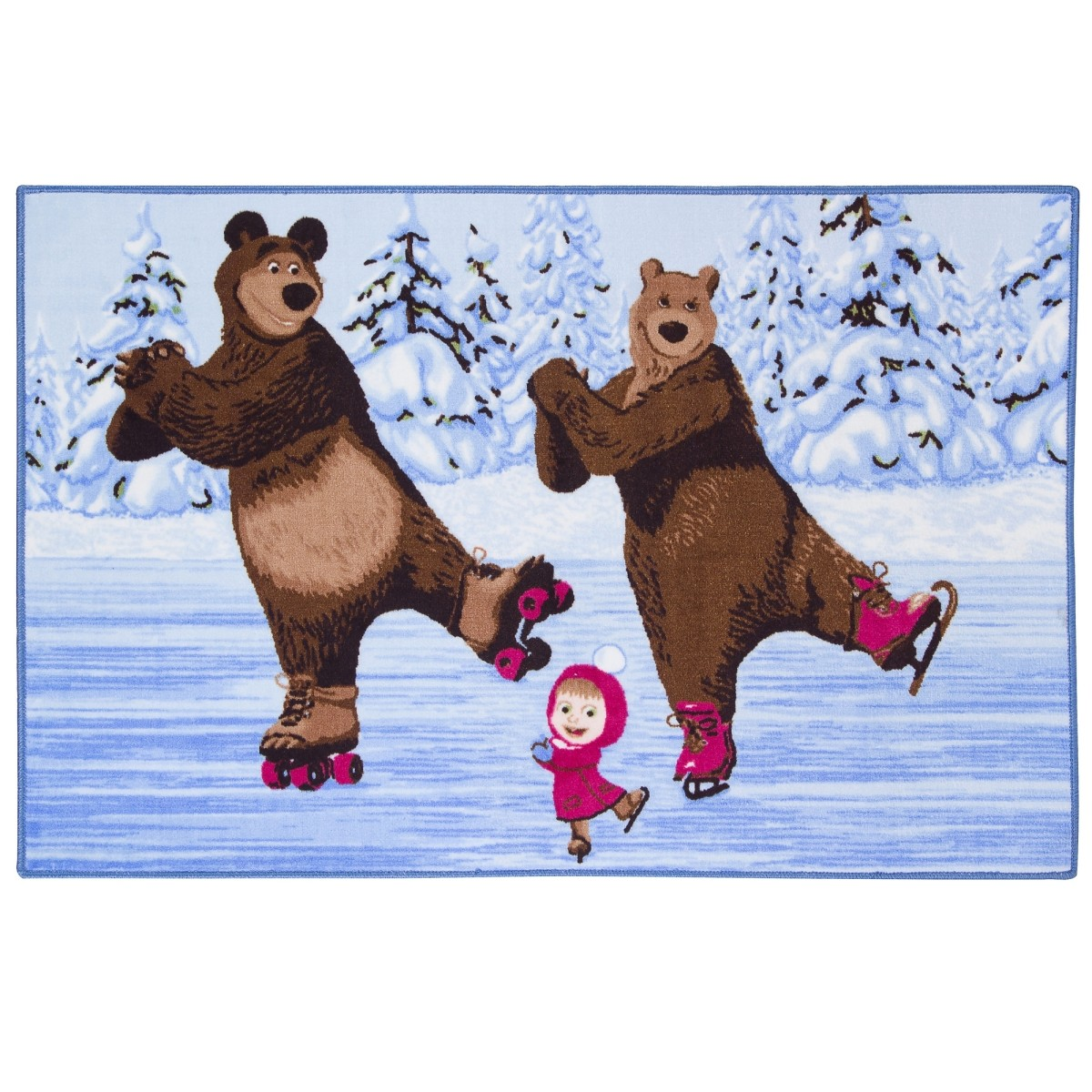 Ковер Маша и Медведь на льду трио размер 1х15 м