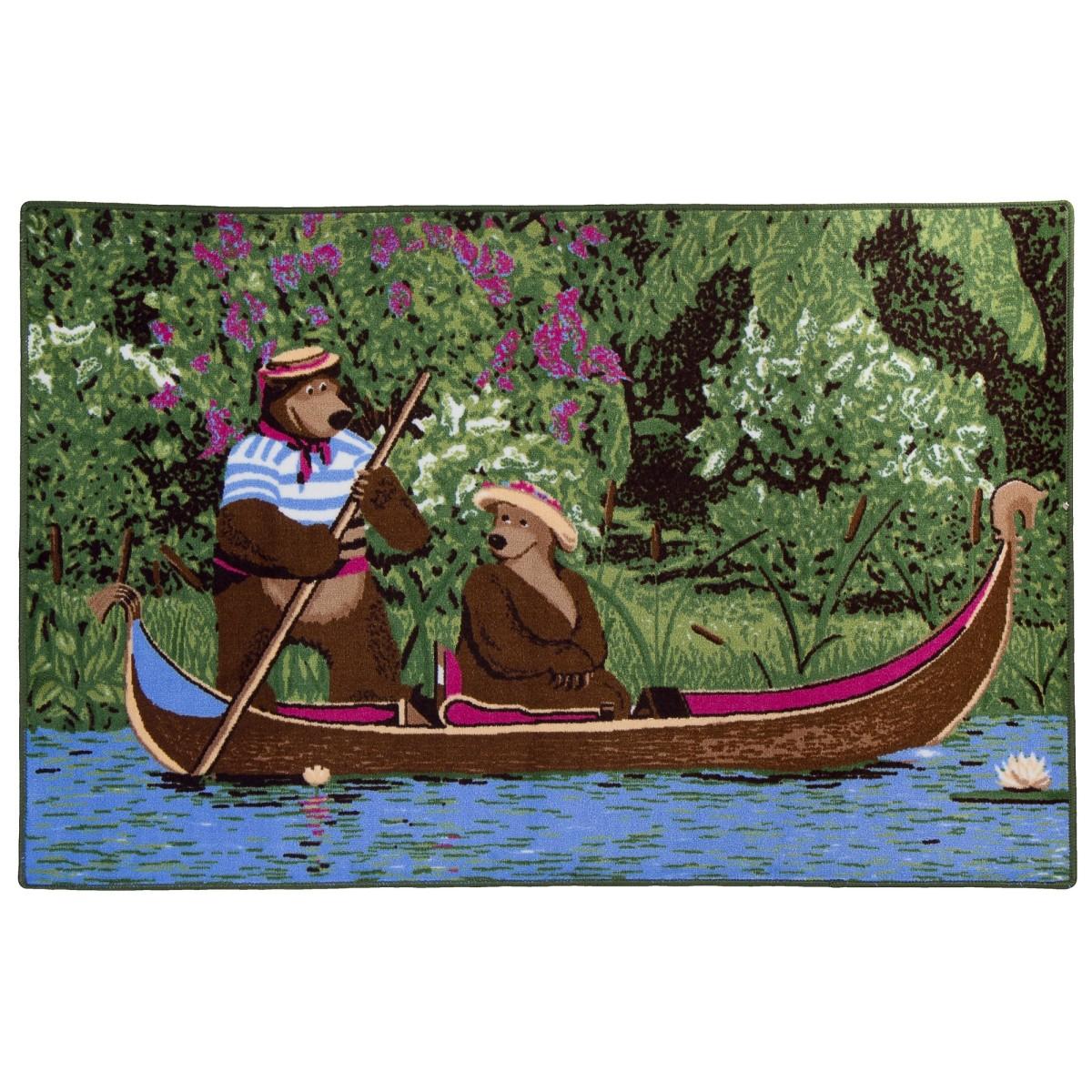 Ковер Маша и Медведь на лодке размер 1х15 м
