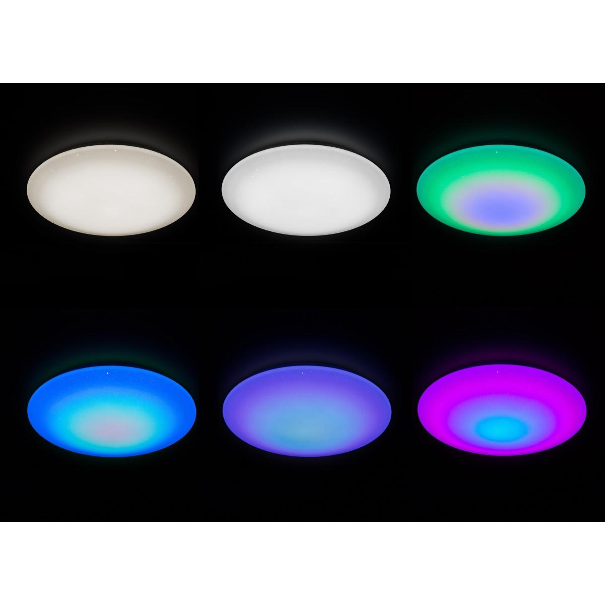 Настенно-потолочный светильник светодиодный Supernova RGB 60 Вт с пультом ДУ регулируемый цвет света RGBW