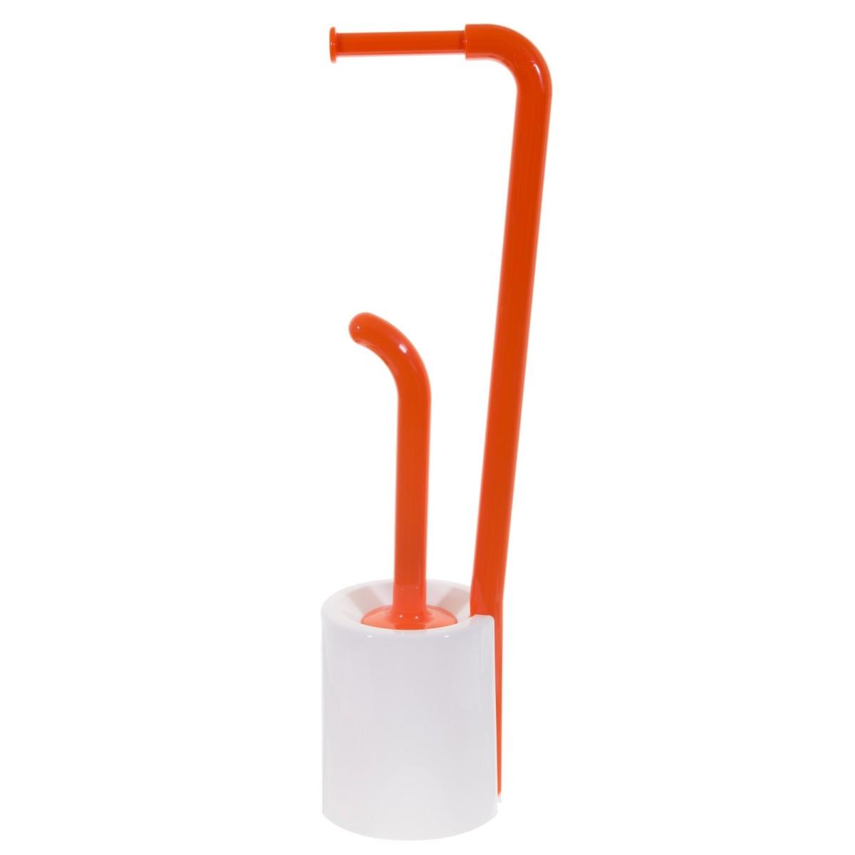 Стойка для ванной комнаты напольная цвет оранжевый