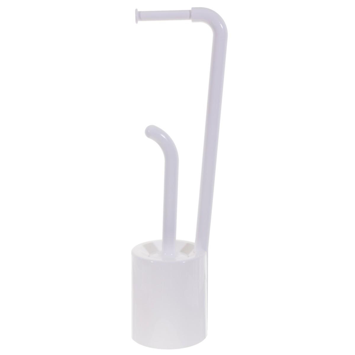 Стойка для ванной комнаты напольная цвет белый