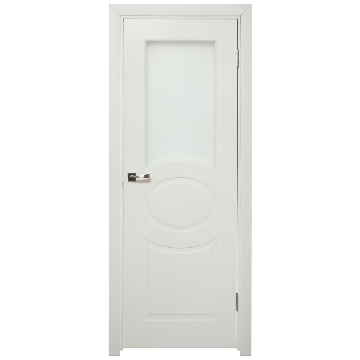 Дверь Межкомнатная Остеклённая Дэлия 80x200 Цвет Белый