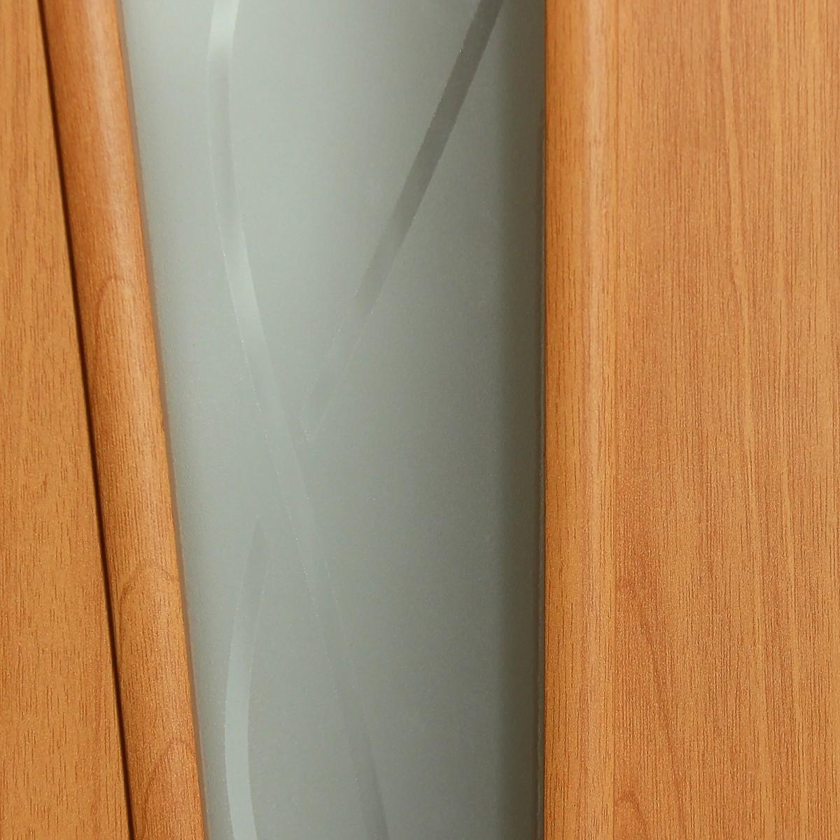 Дверь Межкомнатная Остеклённая Ламинированная Белеза 80x200 Цвет Миланский Орех