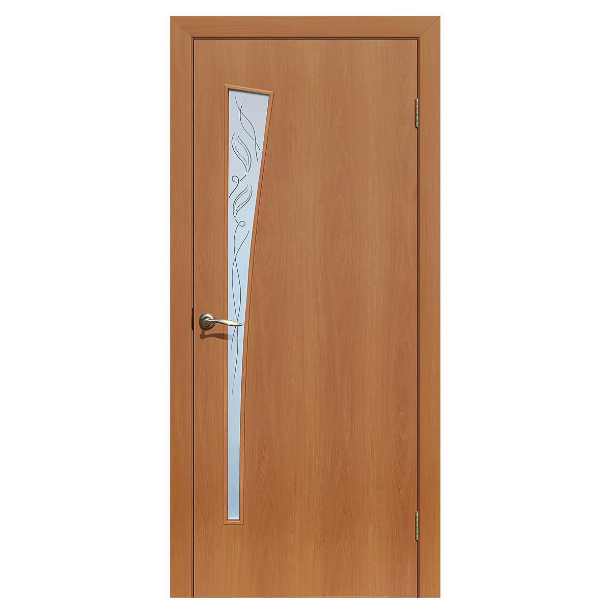 Дверь межкомнатная остеклённая ламинированная Белеза 90x200 см цвет миланский орех