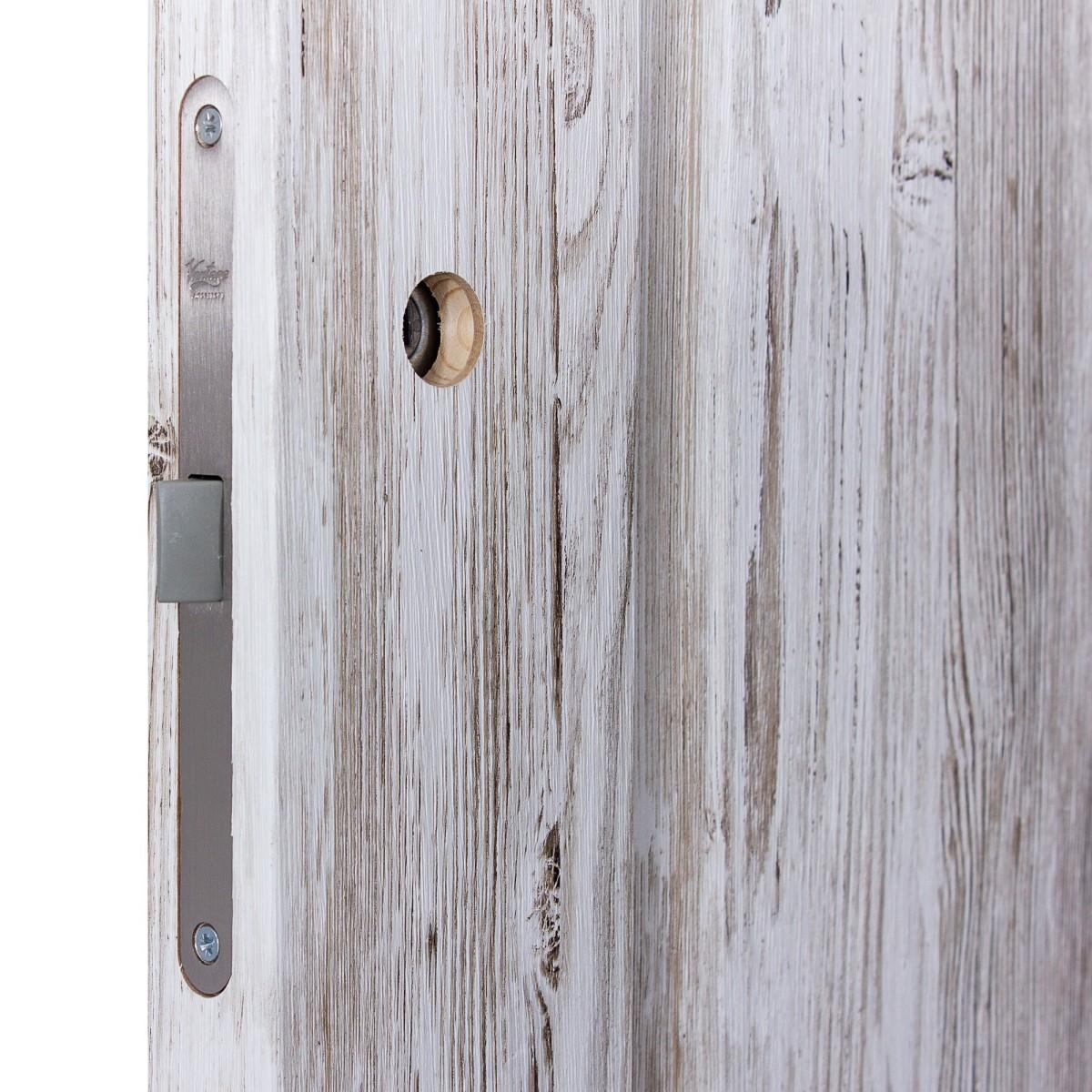Дверь Межкомнатная Глухая Рустик 90x200 Цвет Северная Сосна