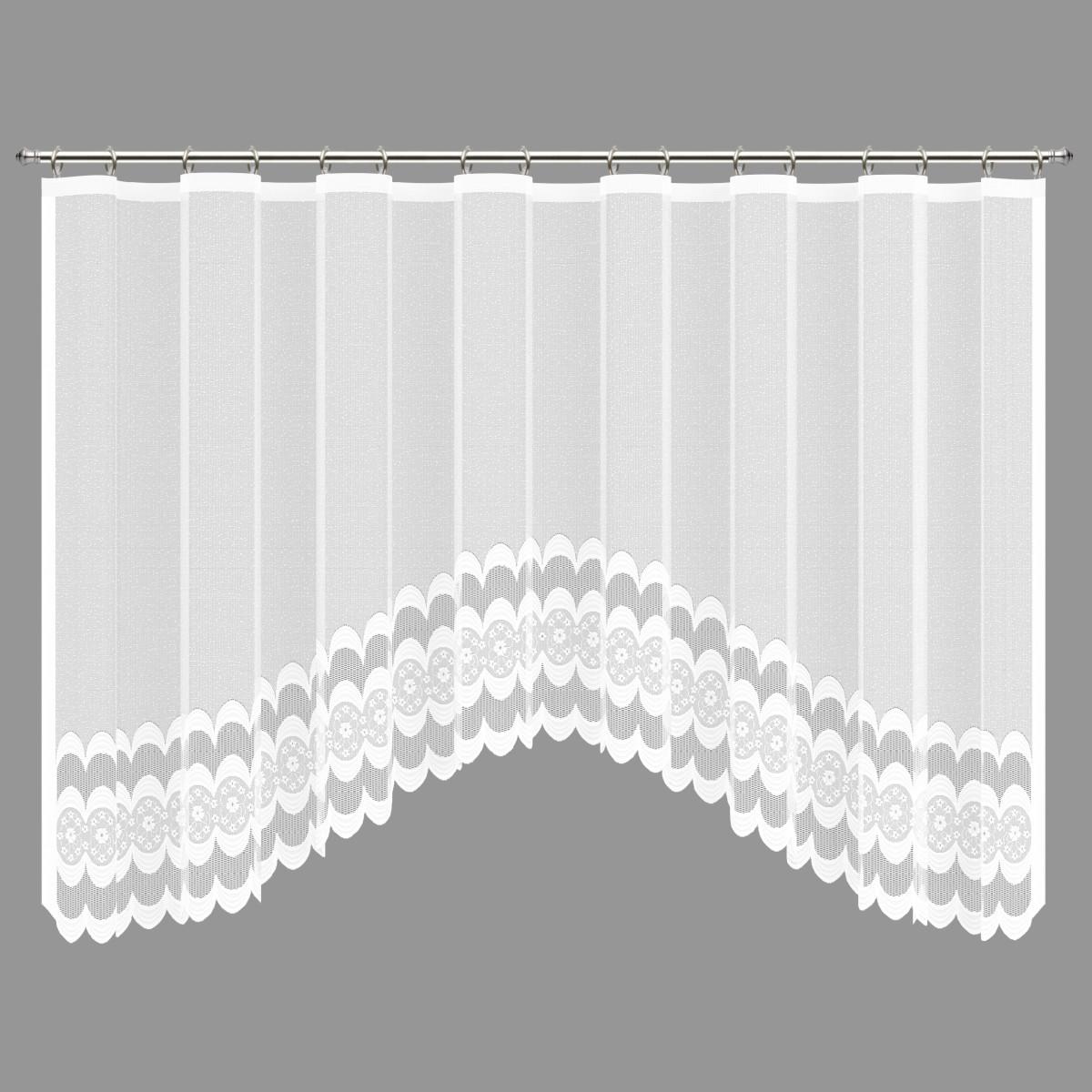Занавеска Для Кухни На Ленте Нежность 420Х165 Цвет Белый