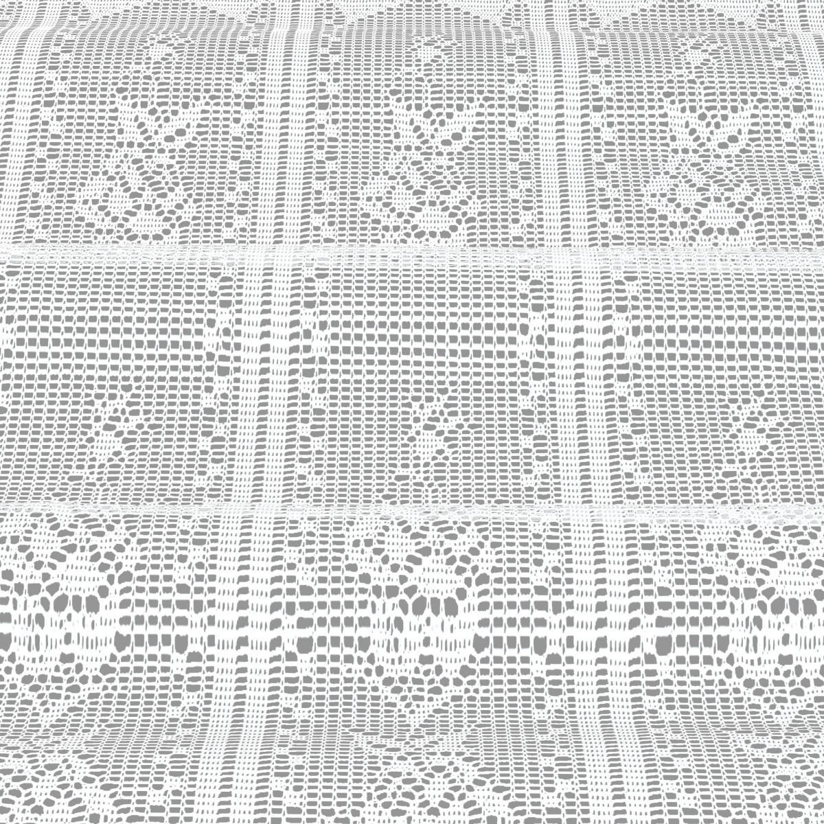 Занавеска Кружева Белый 140Х75 Цвет Белый