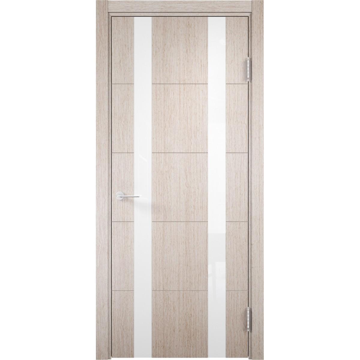 Дверь Межкомнатная Остеклённая Artens Нолан 70x200 Цвет Дуб Бьянко