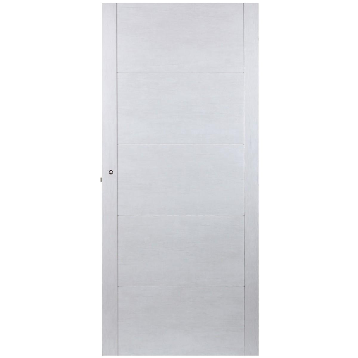 Дверь межкомнатная глухая Техно 90x200 см цвет серый дуб