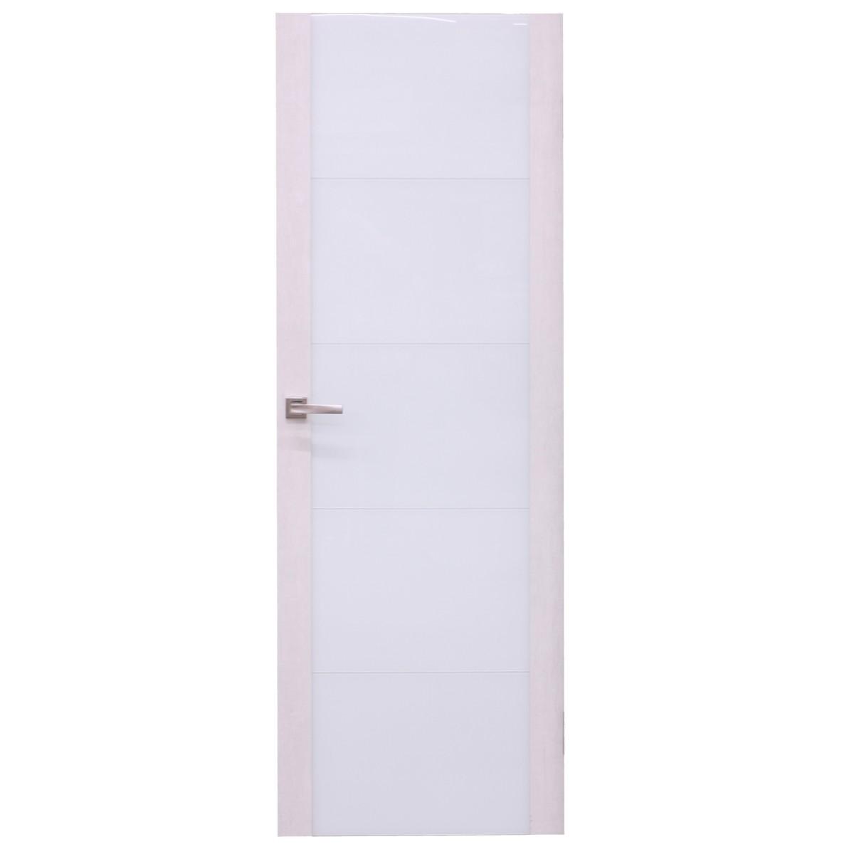 Дверь межкомнатная остеклённая Техно 60x200 см цвет дуб серый