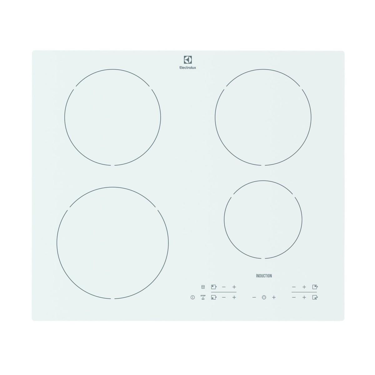 Варочная панель индукционная Electrolux EHH96340IW 4 конфорки 59x52 см цвет белый