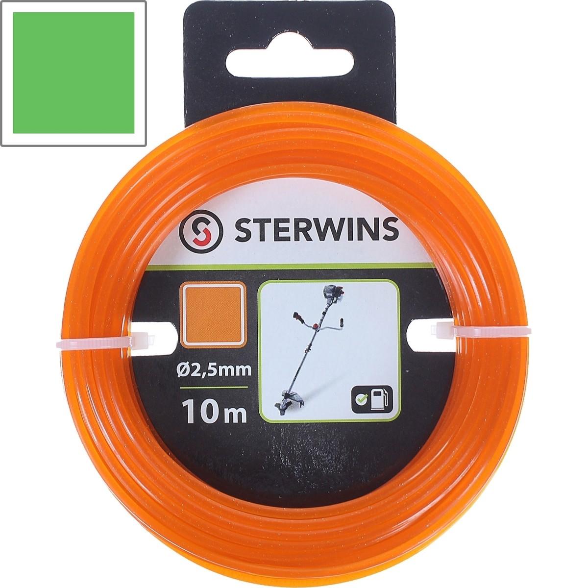 Леска для триммера Sterwins 2.5 мм х 10 м квадратная цвет оранжевый