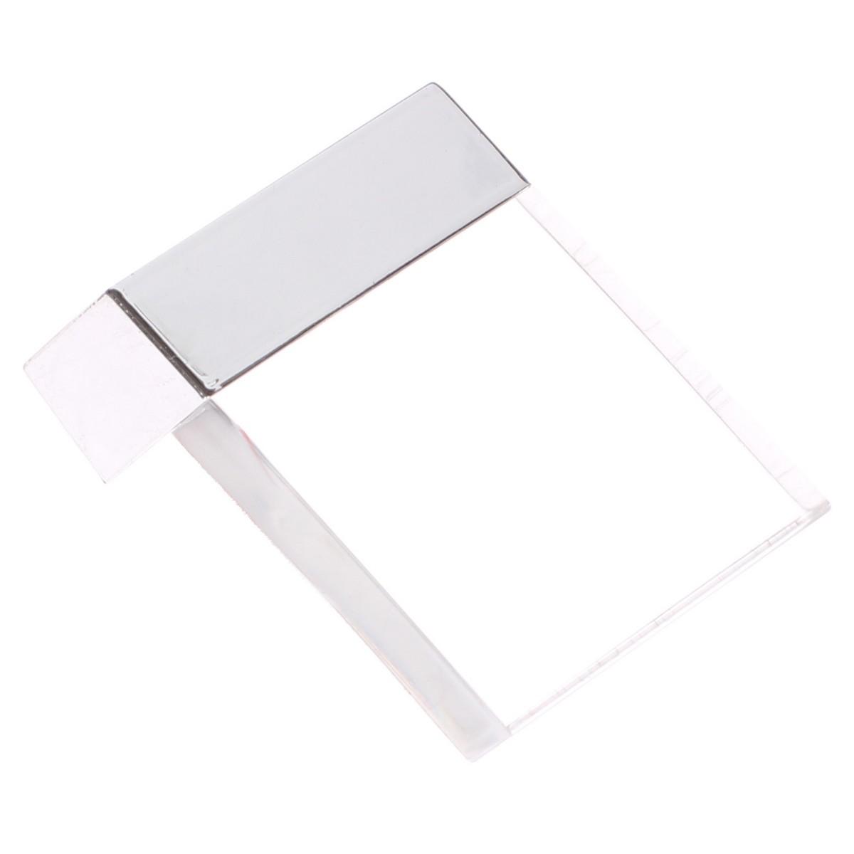 Ручка-Кнопка 85 Цвет Прозрачный/Серебро