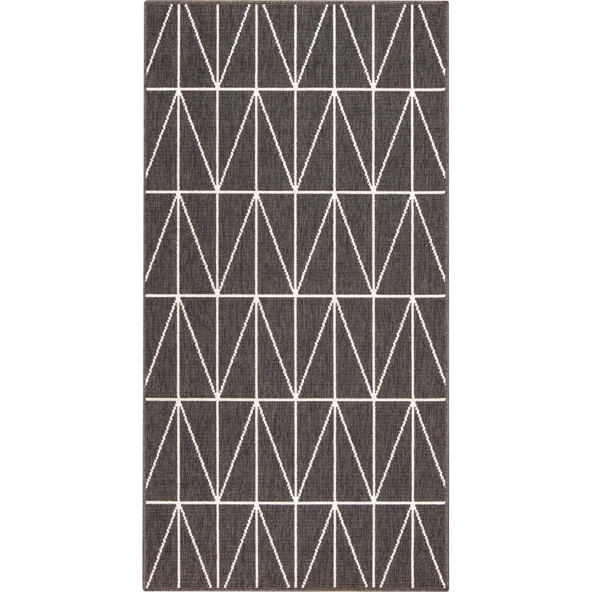 Ковёр Fenix 20412/693 0.8х1.5 м цвет чёрный
