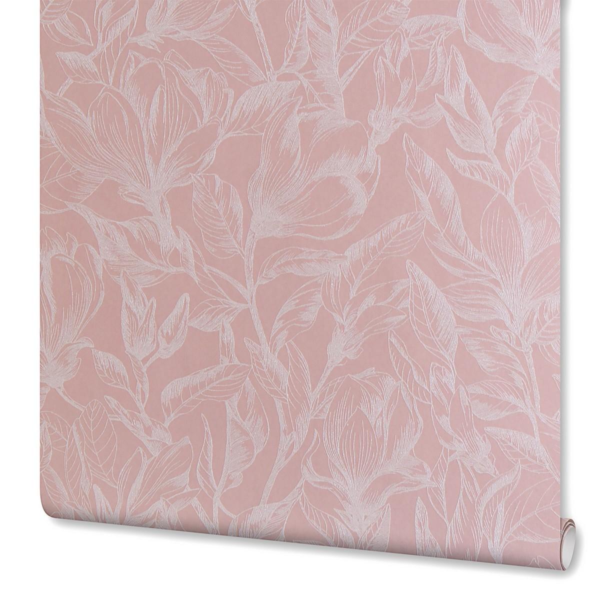 Обои на флизелиновой основе 106х10 м цвет розовый Е58404