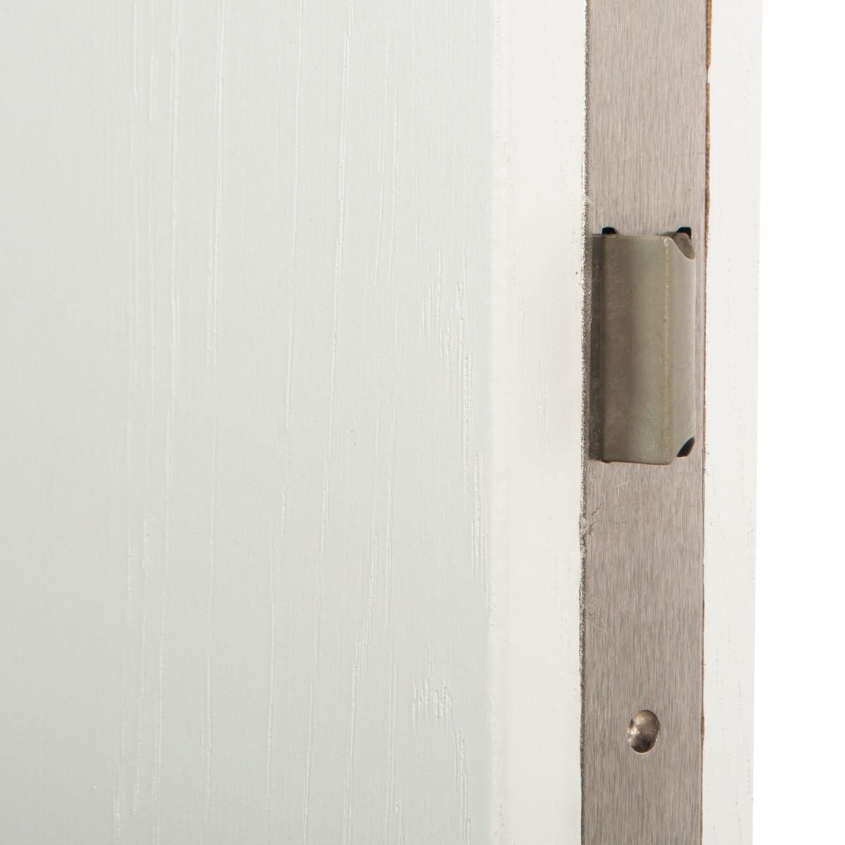 Дверь Межкомнатная Глухая Кристал 60x200 Цвет Пломбир