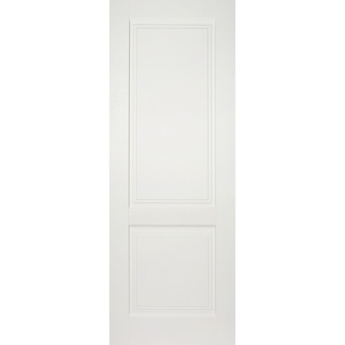 Дверь межкомнатная глухая Кристал 90x200 см цвет пломбир