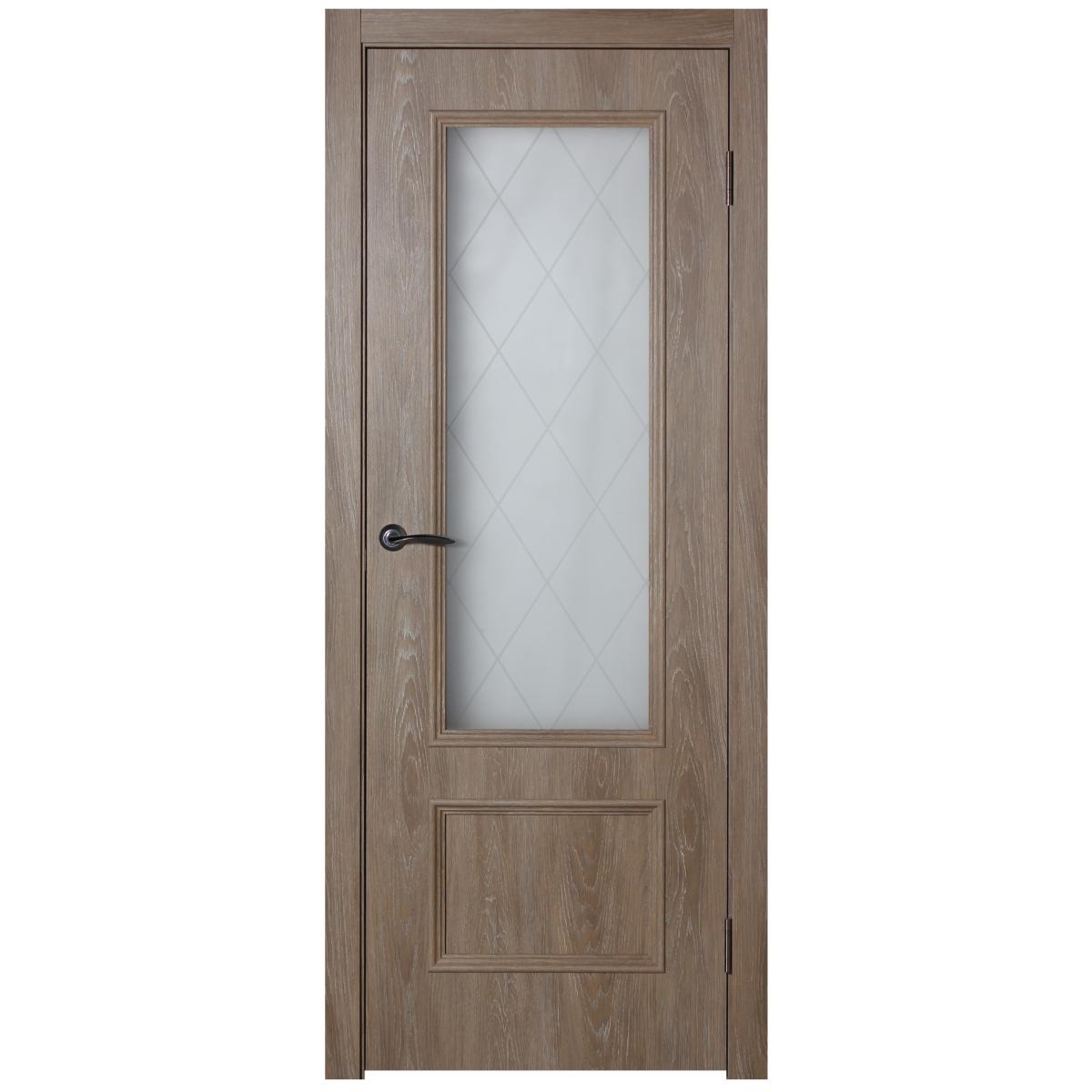 Дверь межкомнатная остеклённая Престиж 60x200 см цвет натуральный дуб
