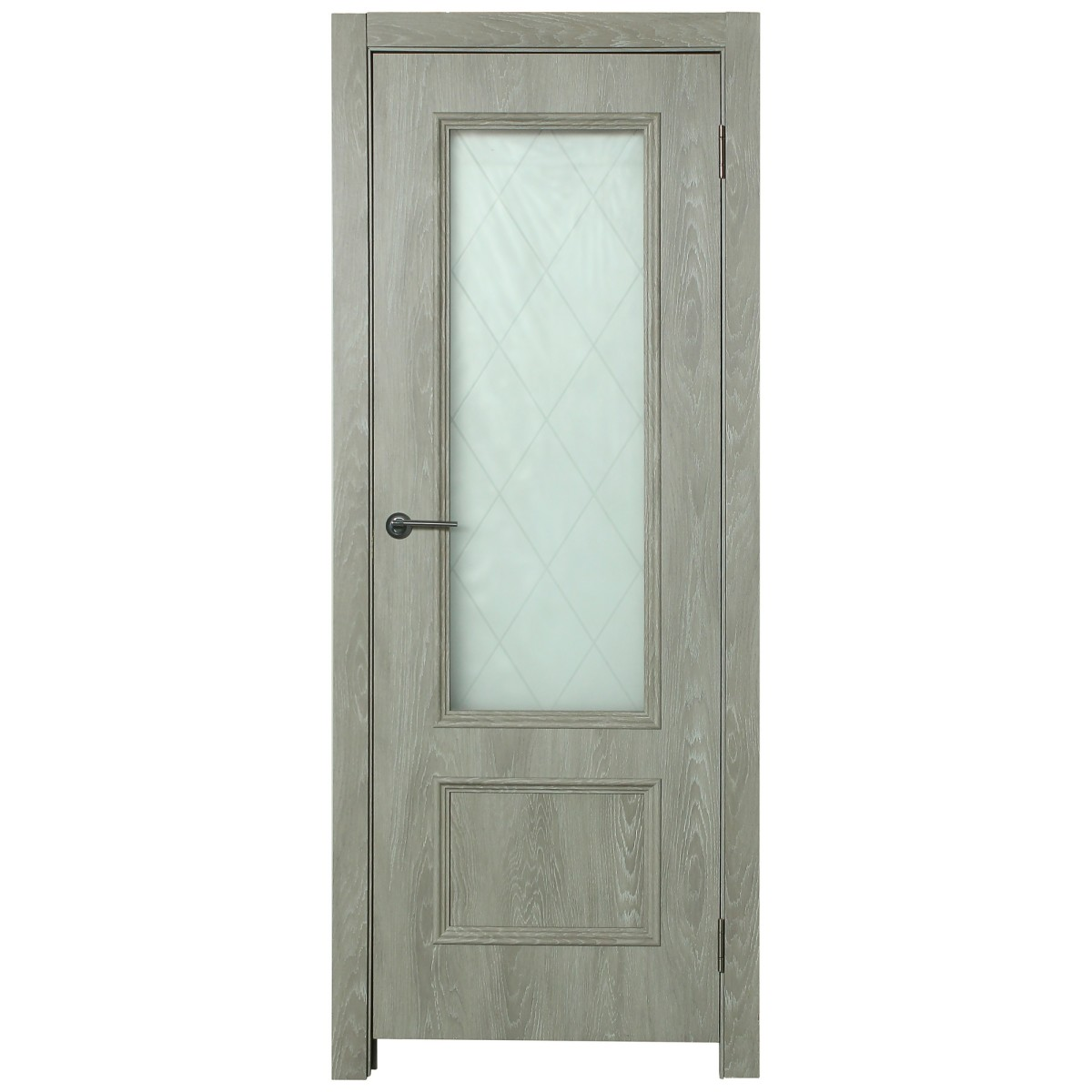 Дверь межкомнатная остеклённая Престиж 60x200 см цвет дуб