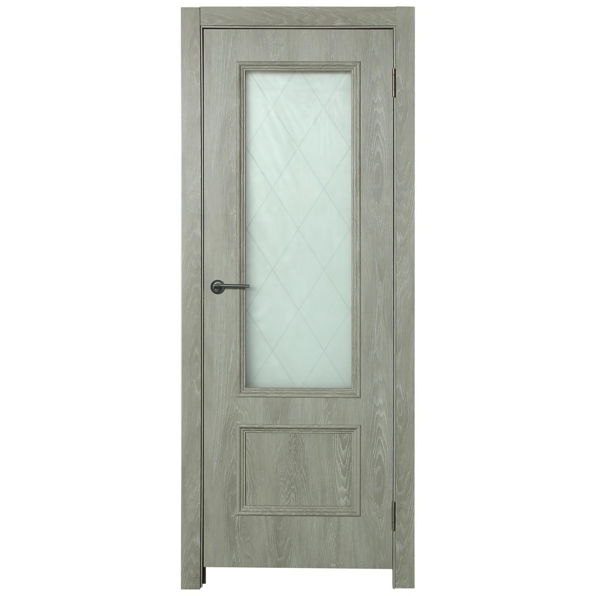 Дверь межкомнатная остеклённая Престиж 80x200 см цвет дуб