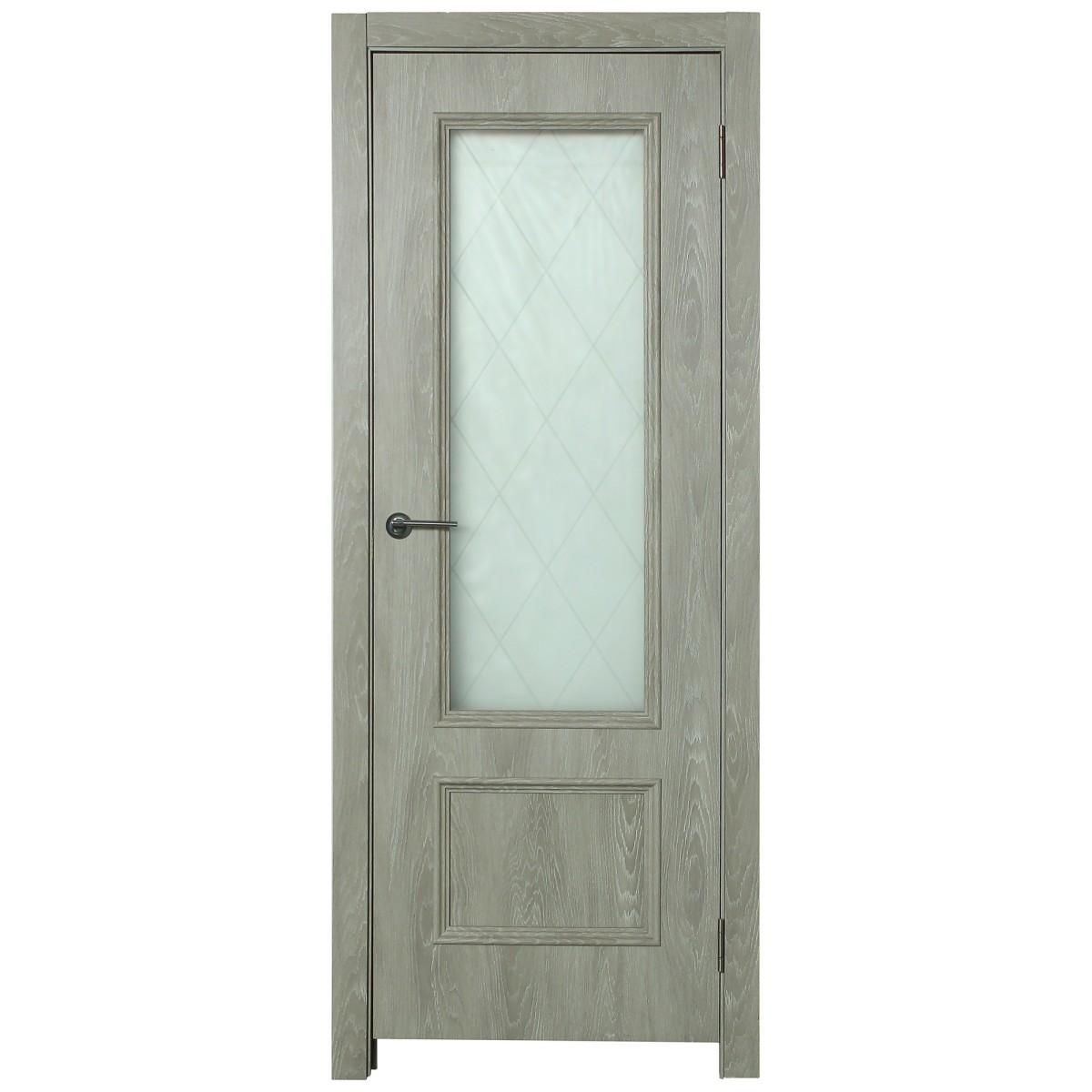Дверь межкомнатная остеклённая Престиж 90x200 см цвет дуб