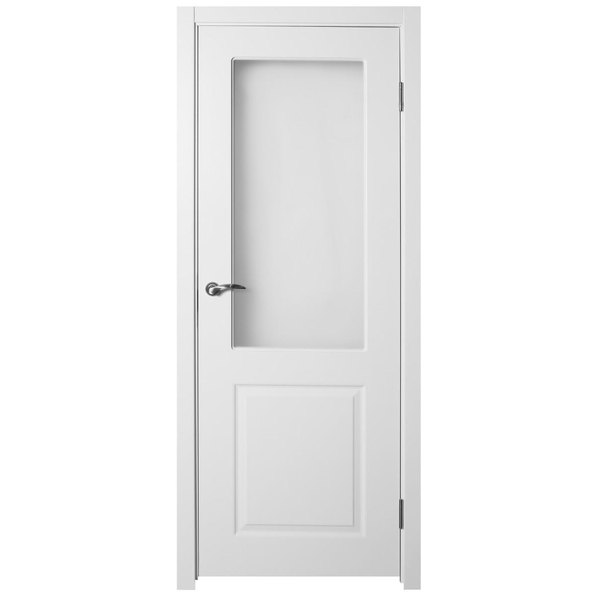 Дверь межкомнатная остеклённая Австралия 80x200 см цвет белый