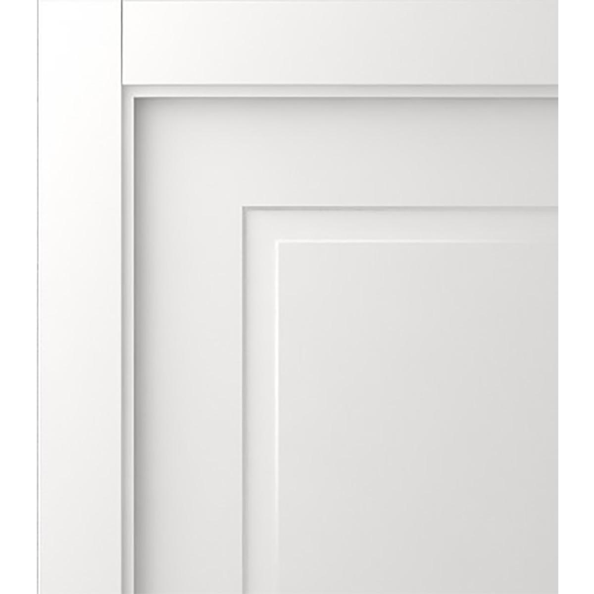 Дверь Межкомнатная Глухая С Замком В Комплекте Британия 80x200 Цвет Белый