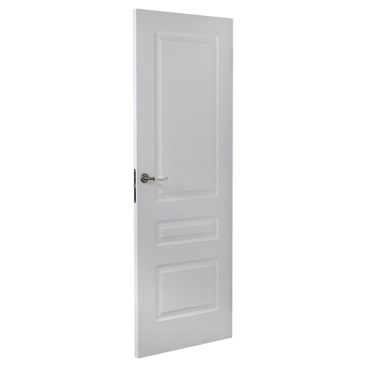 Дверь Межкомнатная Глухая Роялти 60x200 Цвет Белый