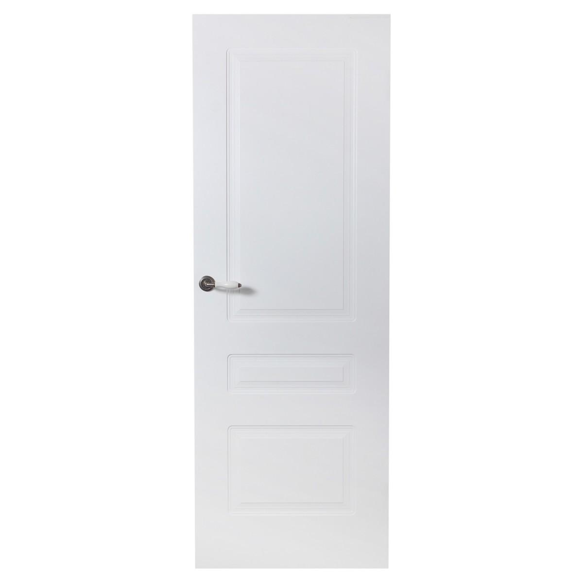 Дверь межкомнатная глухая Роялти 90x200 см цвет белый