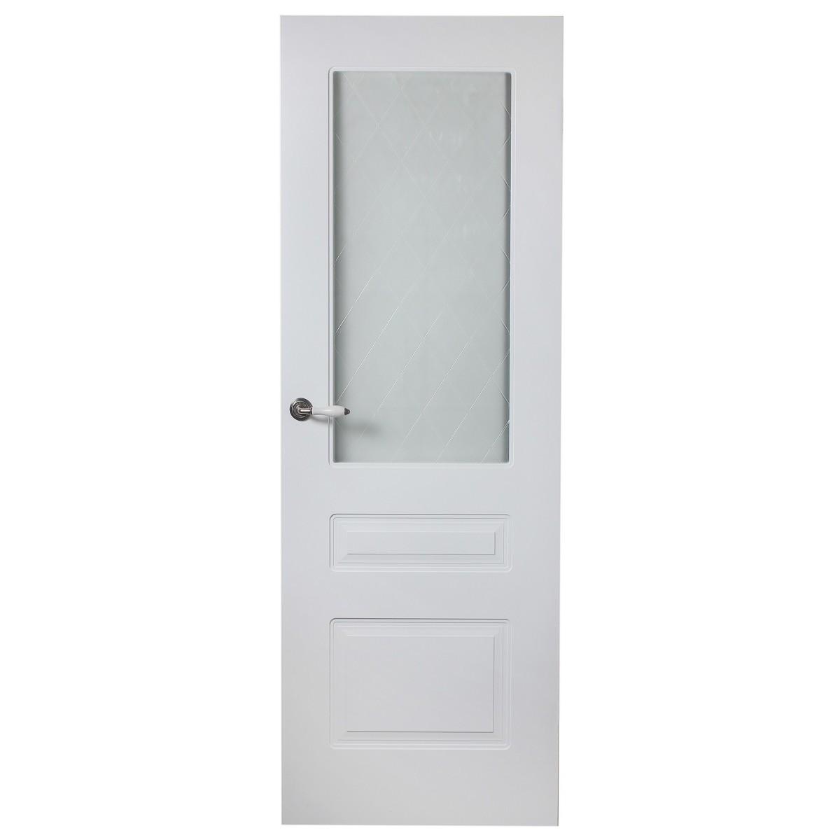 Дверь Межкомнатная Остеклённая Роялти 70x200 Цвет Белый