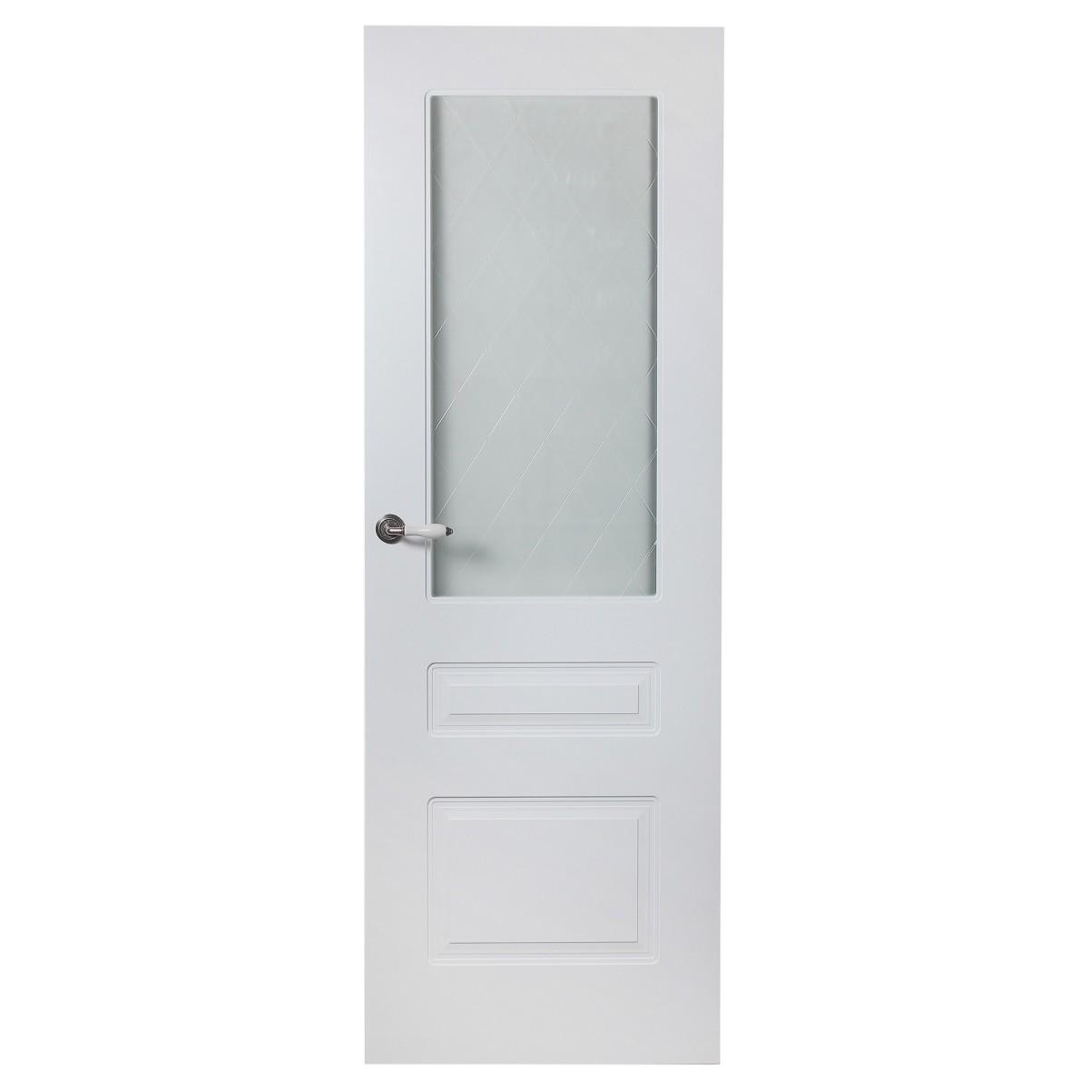 Дверь Межкомнатная Остеклённая Роялти 80x200 Цвет Белый