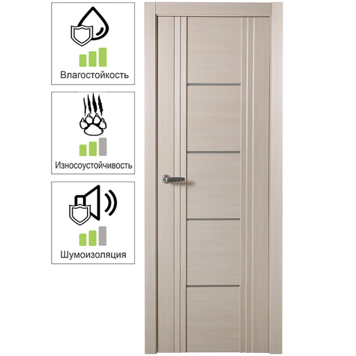 Дверь Межкомнатная Глухая С Замком В Комплекте Селект 80x200 Цвет Эшвуд