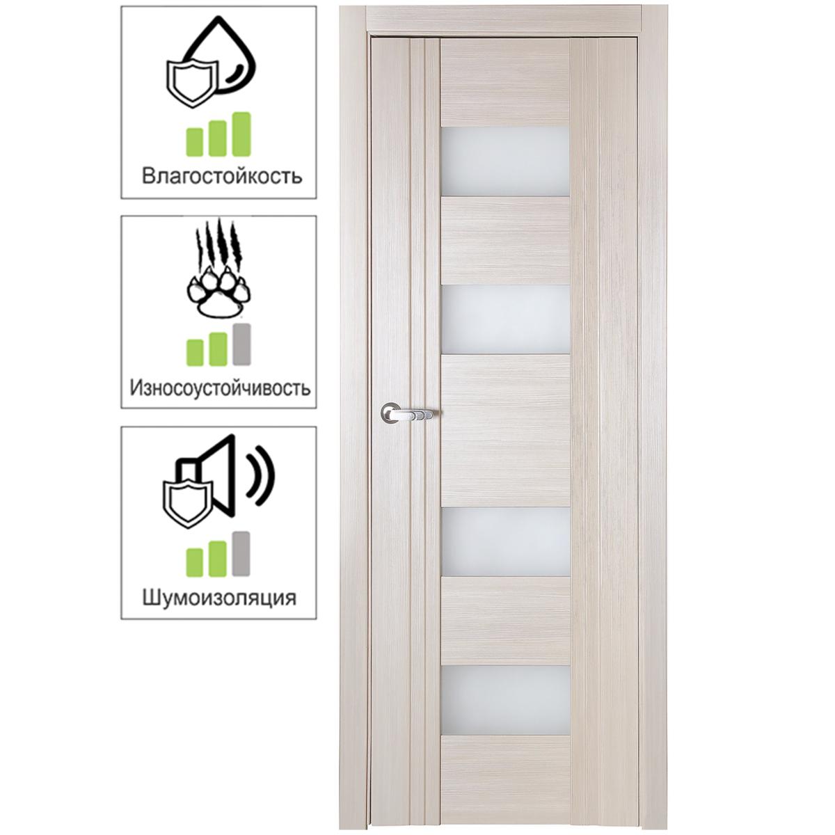 Дверь межкомнатная остеклённая с замком в комплекте Селект 60x200 см