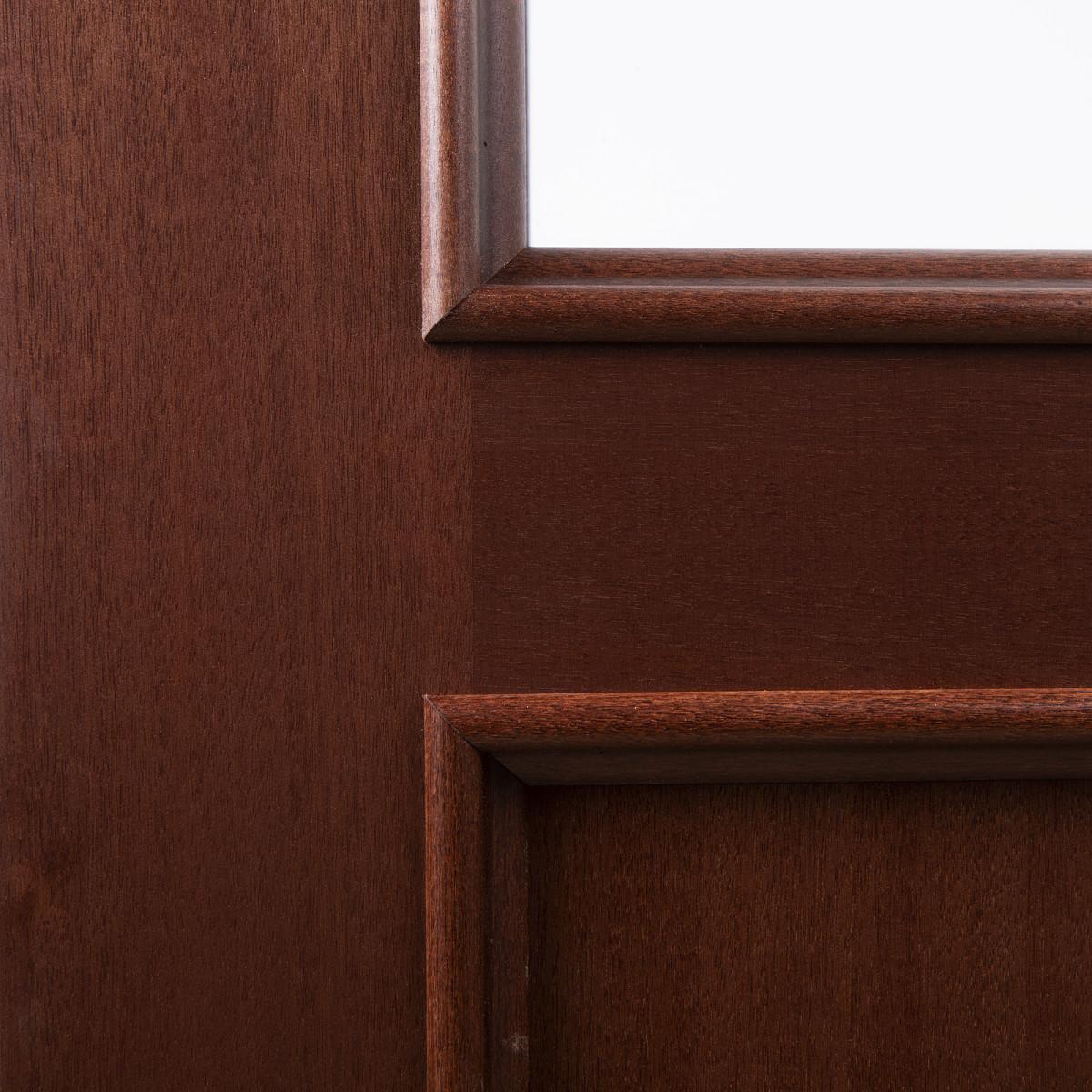 Дверь Межкомнатная Остеклённая Шпонированное Этерно 80x200 Цвет Итальянский Орех