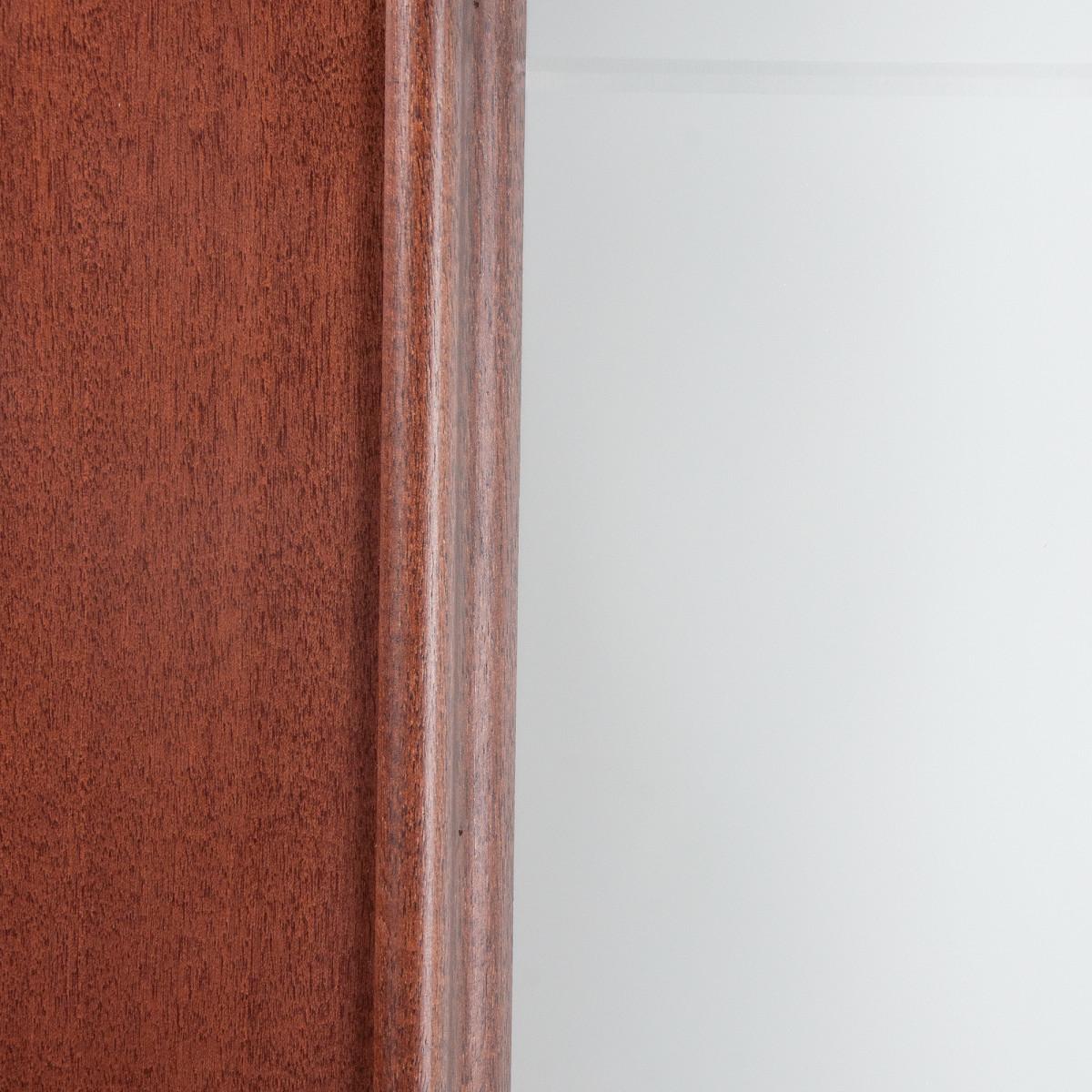 Дверь Межкомнатная Остеклённая Шпонированное Этерно 90x200 Цвет Итальянский Орех