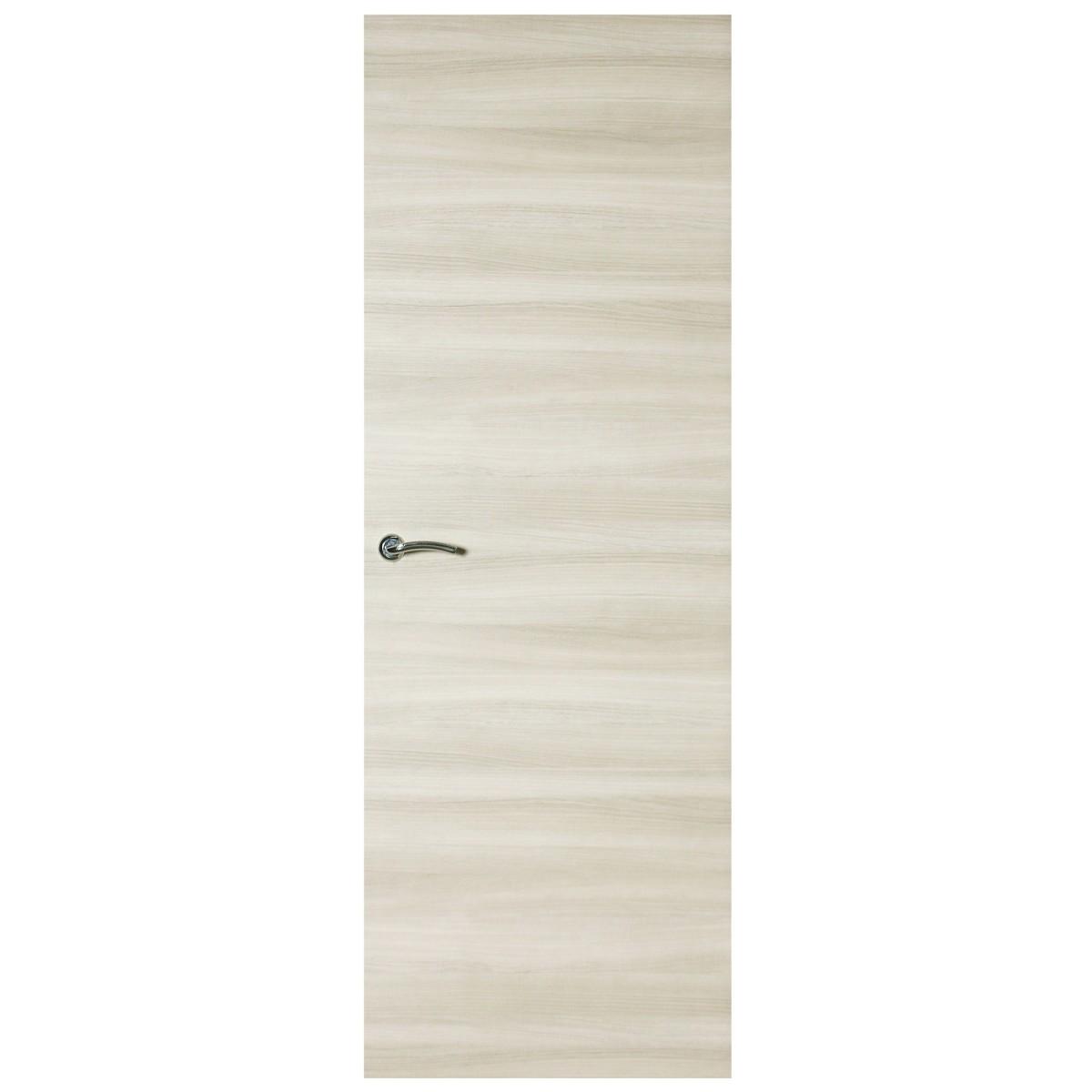 Дверь Межкомнатная Глухая Ламинированная Унико 80x200 Цвет Светлый Орех