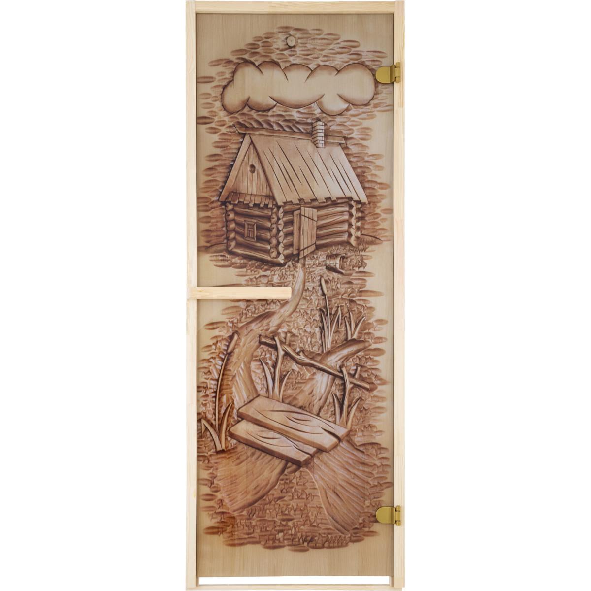 Дверь для сауны магнитный замок 69х189 см