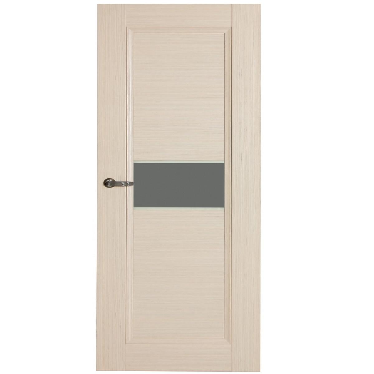 Дверь межкомнатная остеклённая Конкорд cpl 70x200 см цвет выбеленый дуб