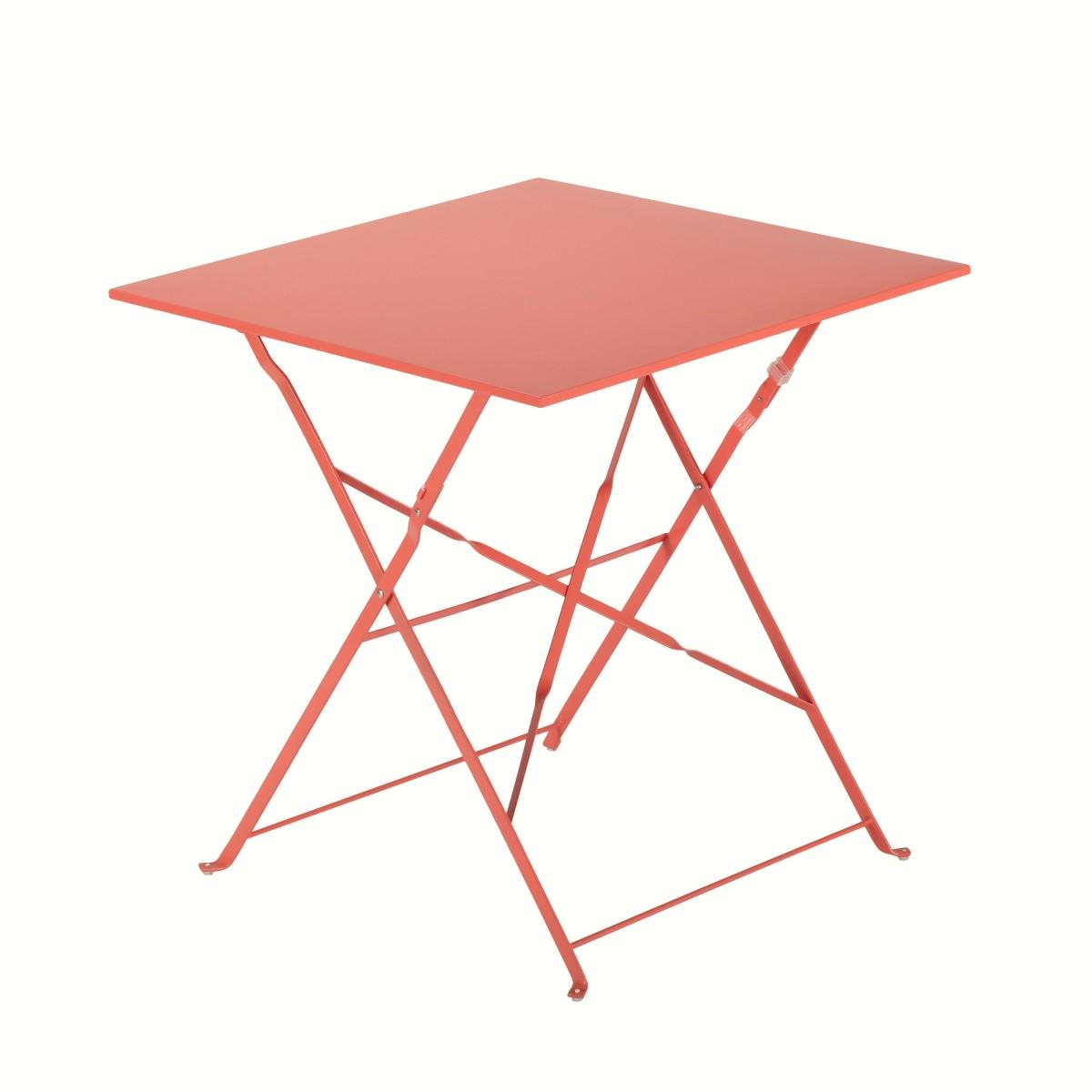 Стол садовый квадратный Naterial Flora Origami складной 70х70х71 см сталь красный