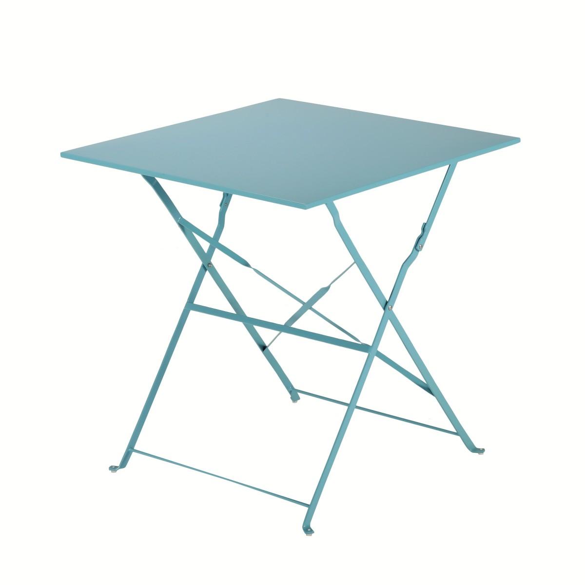 Стол садовый квадратный Naterial Flora Origami складной 70х70х71 см сталь синий