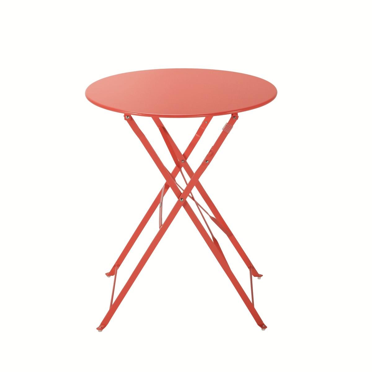 Стол садовый круглый Naterial Flora Origami складной 60х71 см сталь красный
