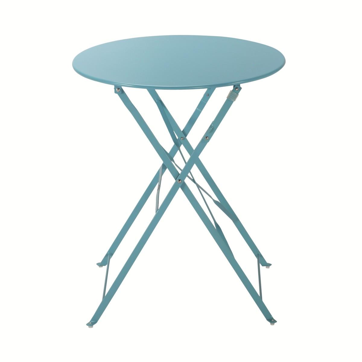 Стол садовый круглый Naterial Flora Origami складной 60х71 см сталь синий