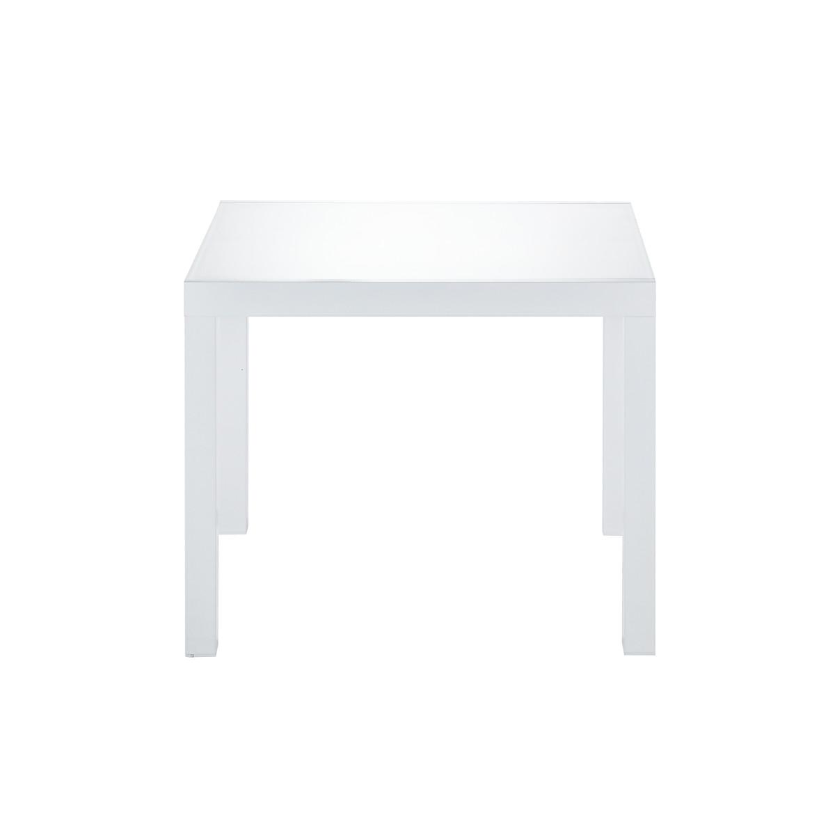 Стол садовый раздвижной Naterial Lyra Up&Down 90-160х90х75 см алюминий/стекло белый