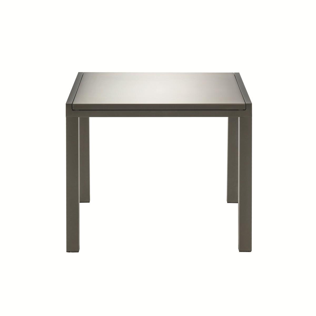 Стол садовый раздвижной Naterial Lyra Up&Down 90-160х90х75 см алюминий/стекло коричневый