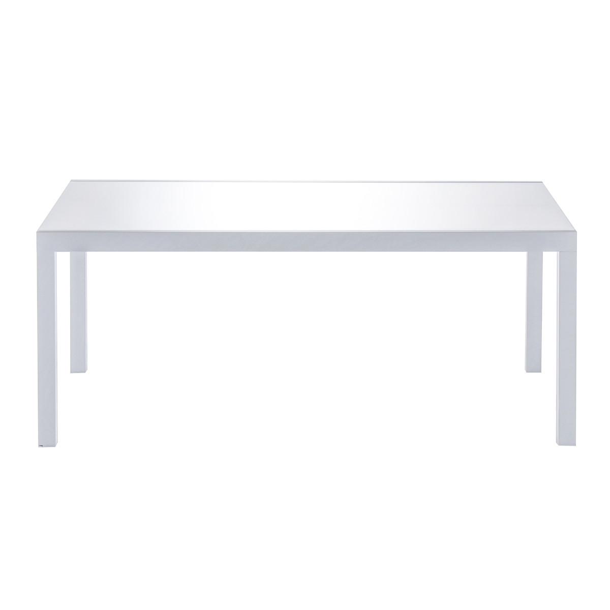 Стол садовый раздвижной Naterial Lyra Up&Down 180-260х90х75 см алюминий/стекло белый