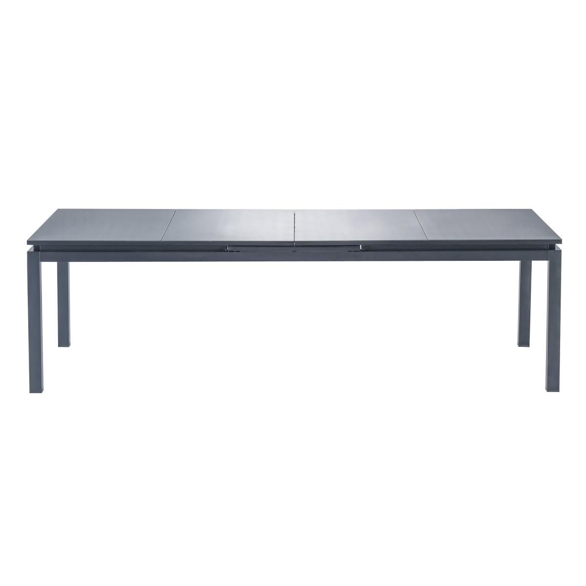 Стол садовый раздвижной Naterial Odissea Easy 256-320х90х76.5 см алюминий темно-серый