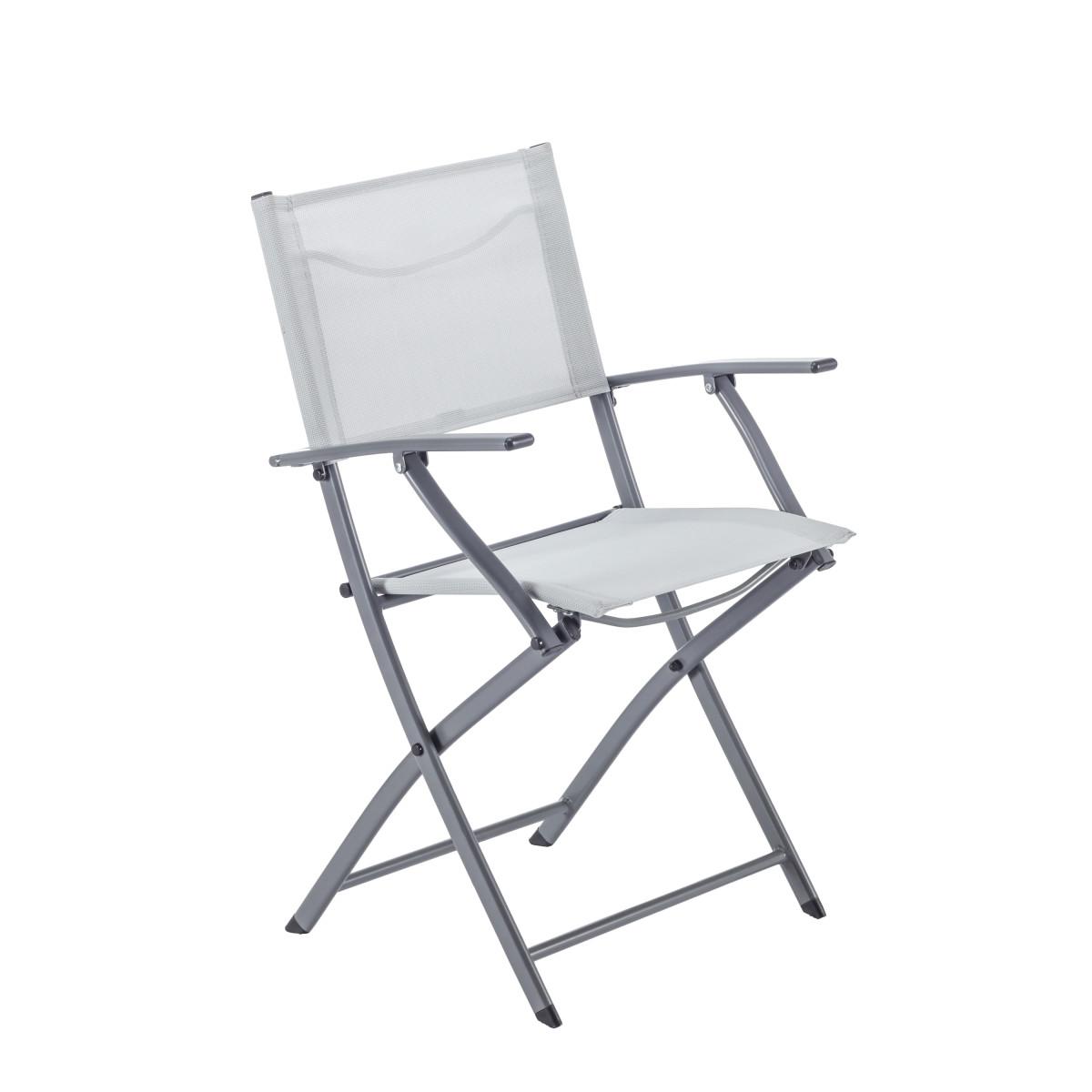 Кресло Naterial Emys Origami Складное 54Х52Х83 Сталь Светло-Серый